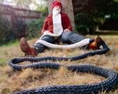rip van winkle knit beard - face neck warmer, costume, disguise, dickie scarf