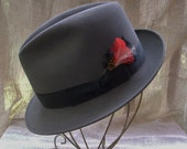 RESERVED FOR antspants Mens Hat Grey Dobbs Fedora