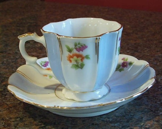Occupied Japan Demitasse Tea Cup Saucer