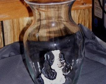 Custom pet portrait vase any animal