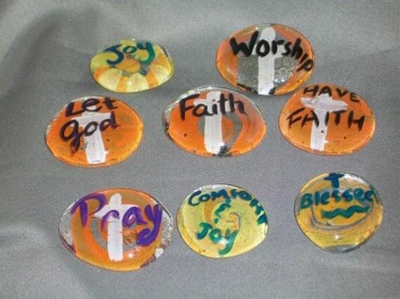 Faith Inspiration Stones Hand painted