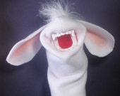 Handpuppet Bunny Rabbit with Teeth