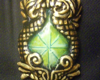 Twin Dragon Pendant