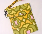 Sale Cell phone holder / wristlet purse / camera / ipod /blackberry/ wallet Garden maze Olive Amy Butler fabric - Clearance
