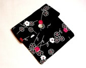 Mini wallet, Mini Pouch, Gift Card Holder, Business Card Holder, Coin Purse Zen Blossom Michael Miller Fabrics- Ready to Ship