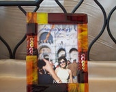 5x7 Fused glass picture frame 17