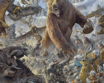 The Battle under the Mountain, signed giclee print