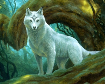 Sacred Wolf, signed giclee print