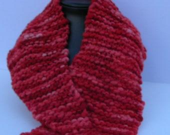 Leftover red neckwarmer