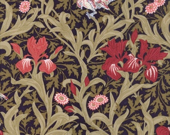 William Morris Fabric on mono deluxe Needlepoint Canvas