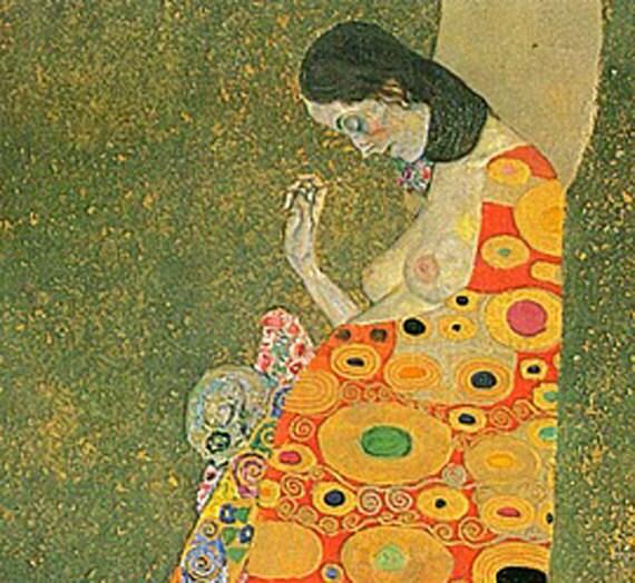 Abandoned Hope Gustav Klimt on mono deluxe Needlepoint Canvas