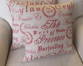 Provence in Red 2 pillow covers 18x18