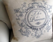 PROVENCE french country pillow Cover 22x22 in dark blue motif