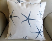 SEASTARS in blue and white pillow covers 18 PAIR