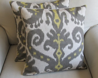Ikat TWO 18x18 pillow covers