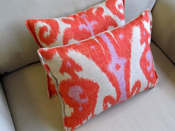IKAT FIREFLY 9x14 accent pillows PAIR