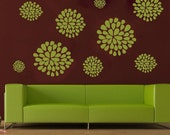 Mum Variety 2 Blooming vinyl wall decal set