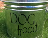 Dog Food Decal for your pet food container SALE item in NIGHT BLACK