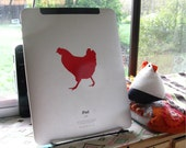 Chicken decal for your iPad, ereader, kindle, nook