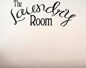 The Laundry Room - Vinyl Wall Decals Stickers Art Graphics Words Lettering vinyl wall decal (medium)