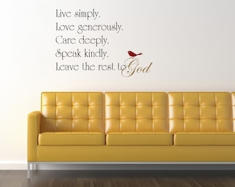 Leave the rest to God vinyl wall decal