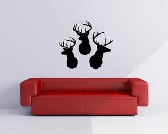 Deer Head  Vinyl Wall Decal