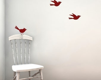 Sale 3 little birds vinyl wall decal  in LIME ONLY