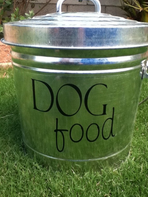 Dog Food Decal for your pet food container SALE item in CHOCOLATE