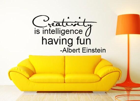 Creativity Albert Einstein quote script Vinyl Wall Decal 50%off sale item