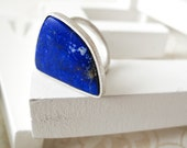 Lapis with pyrite Ring