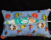 Richard Scary Busy Town Quilted Baby Wipe case