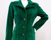 Vintage 1960s Peck and Peck Green Velour Jacket