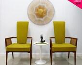On Hold SALE Danish Modern Chairs 1950s High Back Pair Mid Century Modern