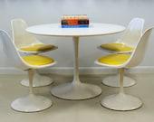 Saarinen Style Vintage Tulip Dining set by Burke from the 1960's Mid Century Mod Panton