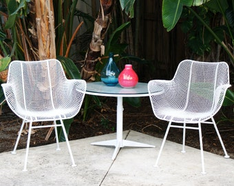 Summer Sale Salterini Adjustable Height Patio Table Mid Century Vintage