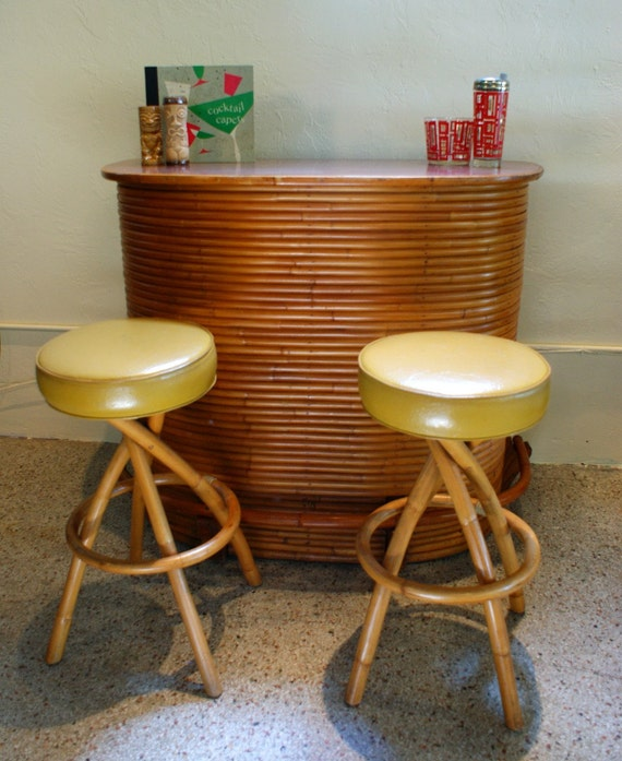Etsy Vintage Bamboo Furniture: Reserved For A Customer Vintage 1950s 1960s Stacked Rattan