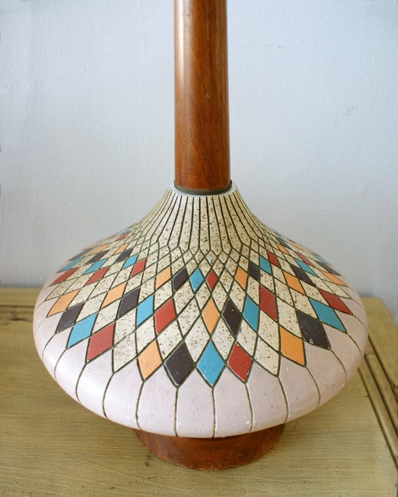 Reserved for kentuckgal Vintage Mid Century Modern 1950s Genie Style Tall Madmen Lamp