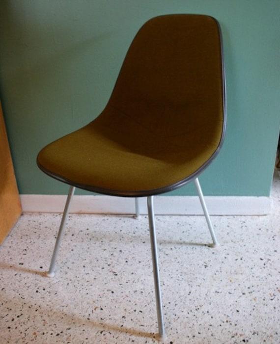 Vintage olive eames herman miller shell chair - Vintage herman miller ...