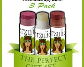 Natural Cosmetics On Sale 3 Pack Your Choice  Aromatherapy Balms  Lipstick Rx Color & Shine   Lipstick Blush