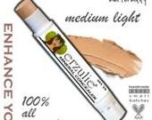 Erzulie® Natural Cosmetics Natural Makeup Cream Concealer  Acne Safe Makeup in MEDIUM LIGHT Organic Makeup Cruelty Free Cosmetics