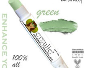 Natural Cosmetics Mineral Makeup Corrector Stick  in Green From cruelty free makeup  Non-comedogenic  Acne Safe and Gluten Free Makeup
