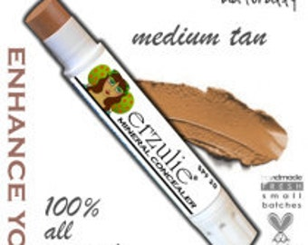 Natural Mineral Concealer Stick in Medium Tan     All Natural Mineral Makeup   Non-Comedogenic  with argan oil  extra coverage