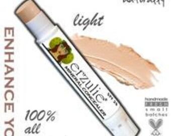 Organic Makeup Erzulie® Natural Mineral Cream Concealer Stick in LIGHT Acne Safe Makeup Non-Comedogenic Makeup Natural Mineral Makeup