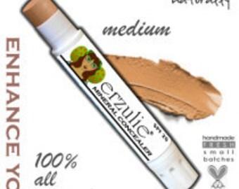 Mineral Concealer Stick in MEDIUM  non-comedogenic  extra coverage Mineral Makeup Acne Safe Makeup with Color Adjusting Minerals
