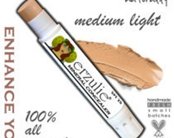 Natural Mineral Concealer In MEDIUM LIGHT  Non-Comedogenic  Acne Safe Makeup  Extra Coverage