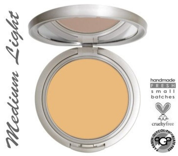 MEDIUM LIGHT  Mineral  Cream To Powder Foundation  Perfect Match (tm)    Acne Safe Makeup Non-Comedogenic with Argan Oil