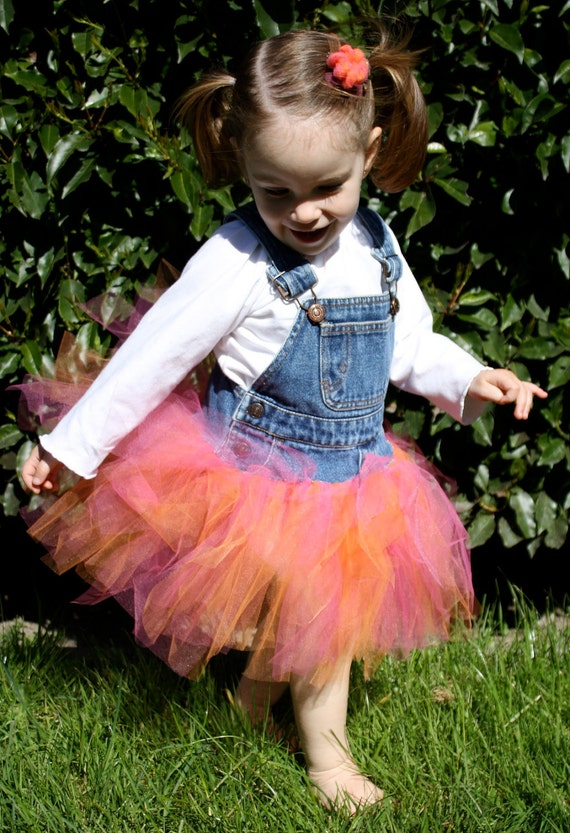 overall tutu dress - made to order in your choice of color and size