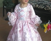Brocade Girls Marie Antoinette Custom Gown with Sparkle