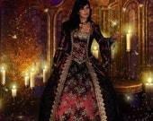 Jezebel Gown with Bustle Renaissance Victorian Medieval Custom Gown Your Color Choice