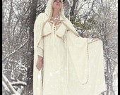 Isadora Medieval Wedding Gown with Matching Hooded Cape Custom